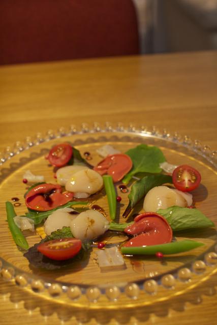 私どものホタテを使ったイタリア料理の例